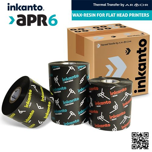 Wax-resin ribbons for barcode labeling