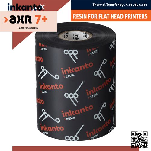 Resin ribbons for barcode labeling