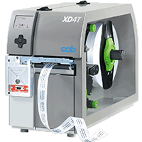 Label printers for double-sided or two-color printing